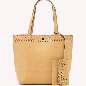 Sole Society Camel Faux Leather Mini Tote Bag